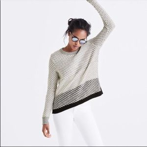 Madewell Geo Block Pullover Knit Chunky Sweater